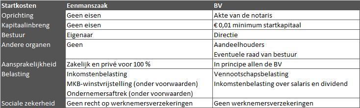 Verschil tussen eenmanszaak en BV | Inschrijven bij de Kamer van Koophandel | Handige tips en informatie voor de online onderneemster (in spé) | De Online Onderneemster